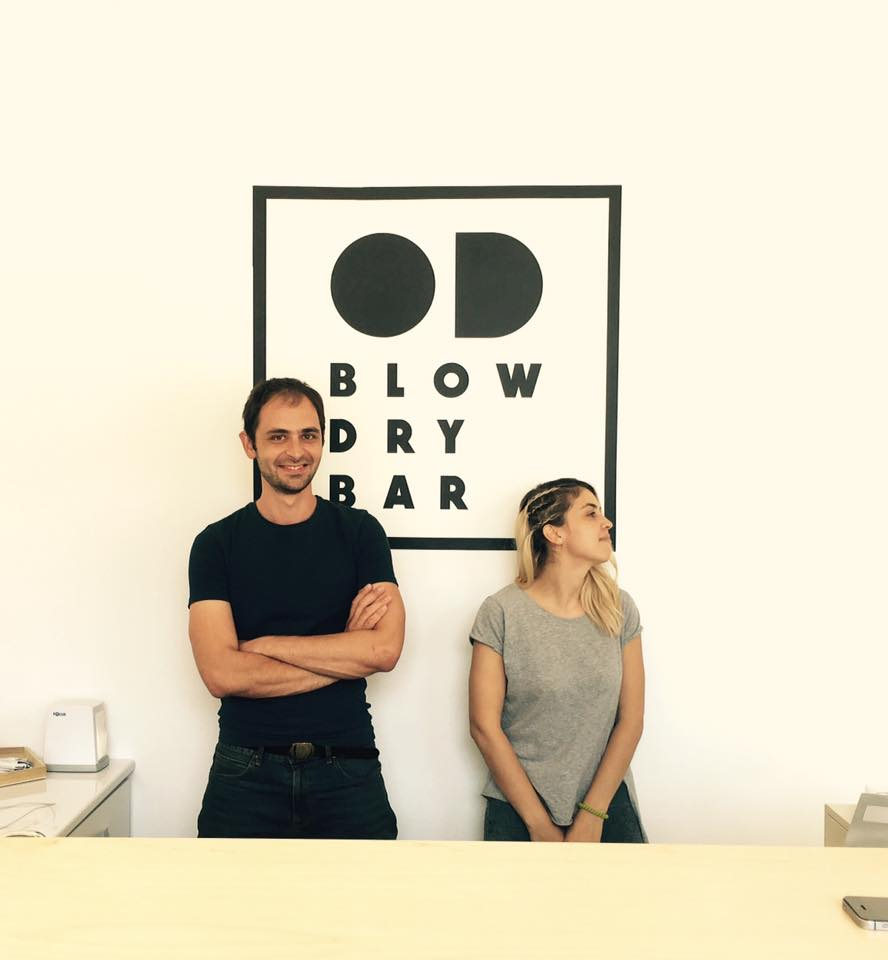 Alexander Adamyan and Hrachuhi Arakelyan founders of OD Blow Dry Bar beauty salon
