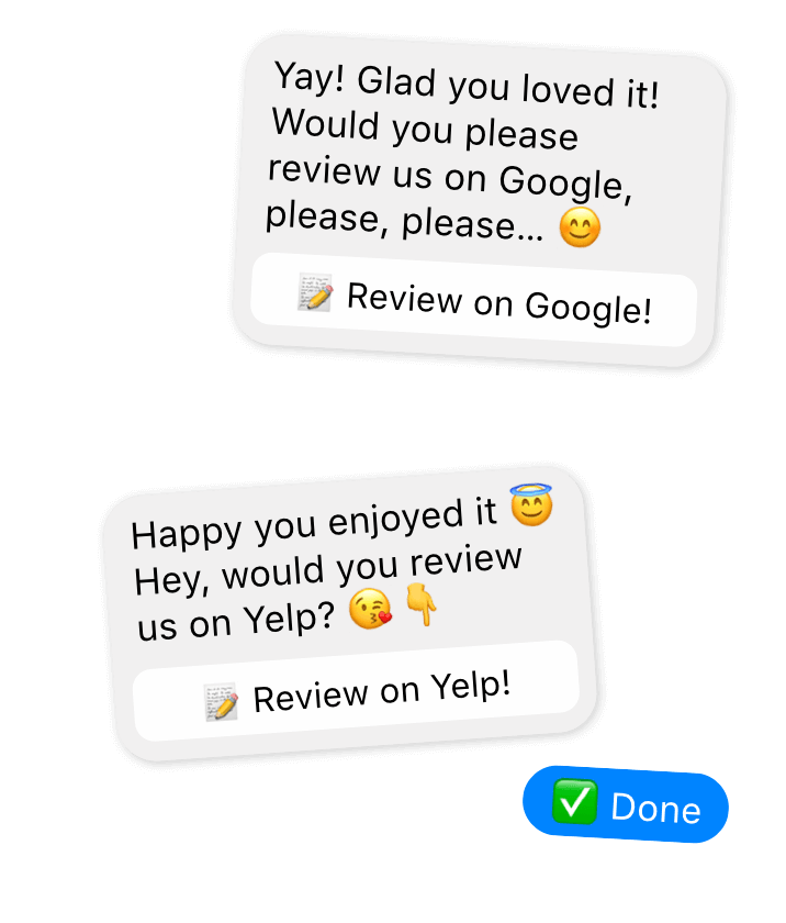 Online reviews for salon and spa